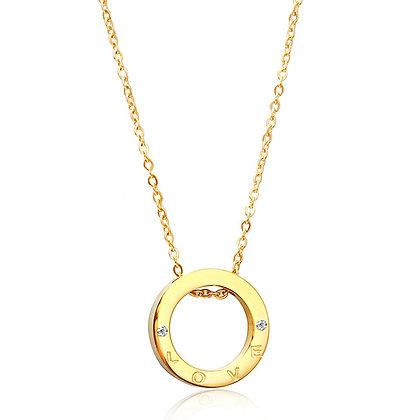 Gold Ring Love Pendant