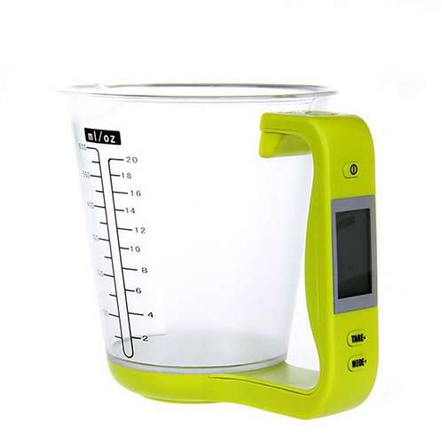 Digital Cup Scale Electronic Measuring Household Jug Scales with LCD Display