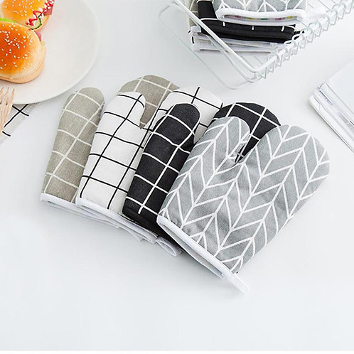 Nordic Inspired Geometric Oven Mitts