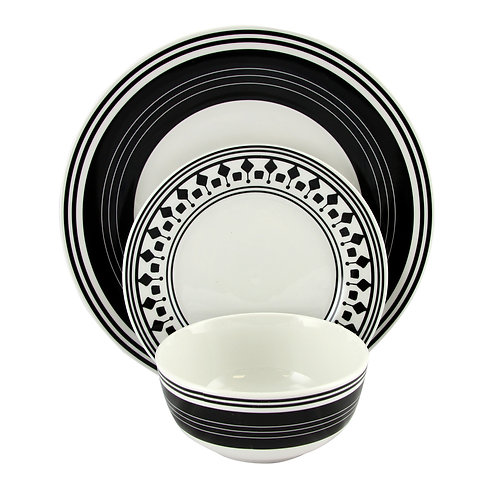 Gibson Home Classic Melody 12-Piece Dinnerware Set