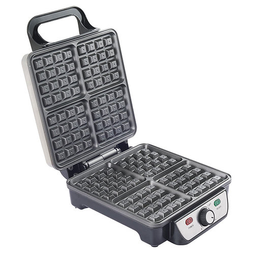 4-Piece Square Stainless Steel Waffle Maker