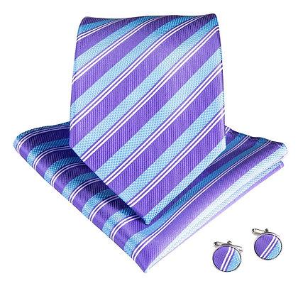 Sky Blue Striped Set