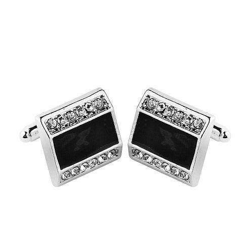 Diamond and Onyx Cuff Links