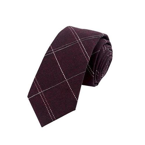 Maroon Check Tie