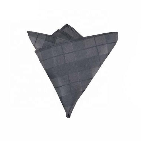 Charcoal Plaid Pocket Square