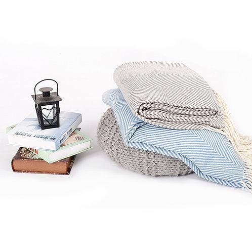 Herringbone Throw Blankets