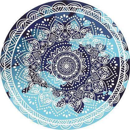 Mandala Beach Roundie (Blue)