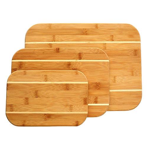 3 Piece Bamboo Cutting Board Set