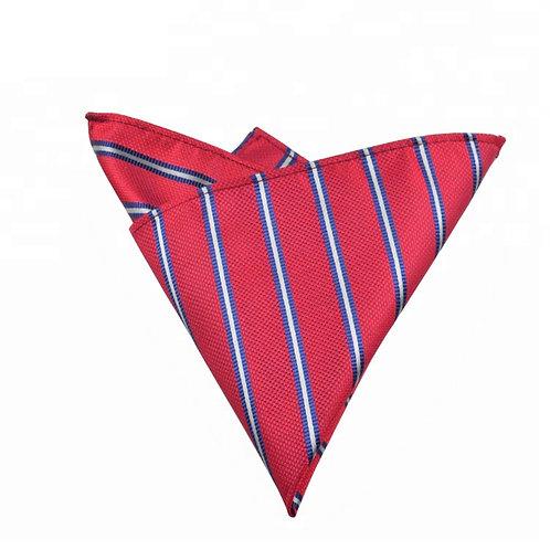 Red Striped Pocket Square