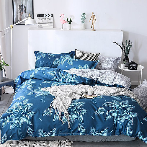 Blue Palms Duvet Set