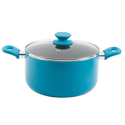 Electric Blue Stainless Steel 26cm Stock Pot