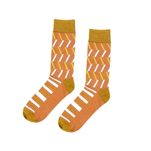 Orange Lines Socks