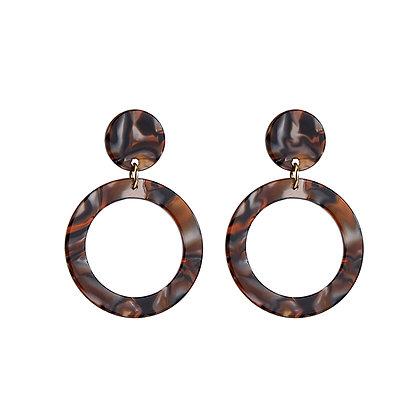 Leopard Acrylic Hoops