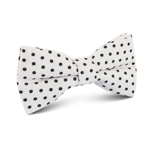 White Polka Dot Bow Tie