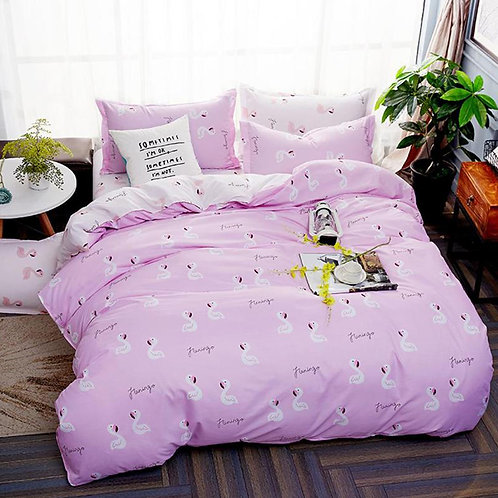 Pink Flamingos Duvet Set