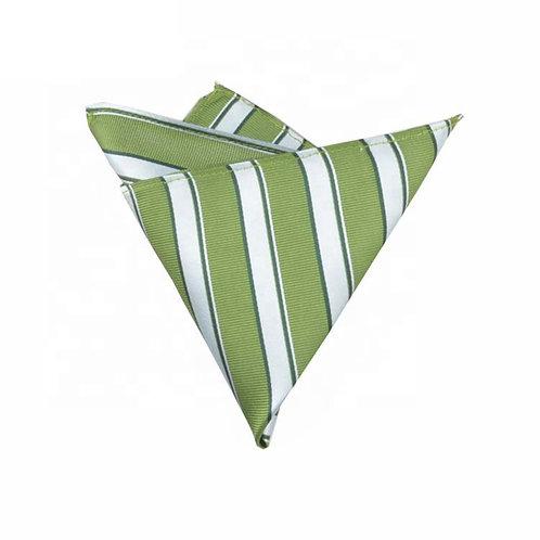Green Striped Pocket Square