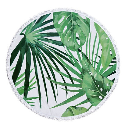 Tropical Leaves Beach Roundie