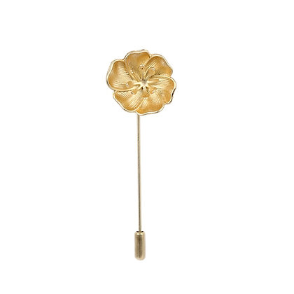 Golden Flower Lapel Pin