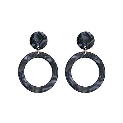 Black Acrylic Hoops