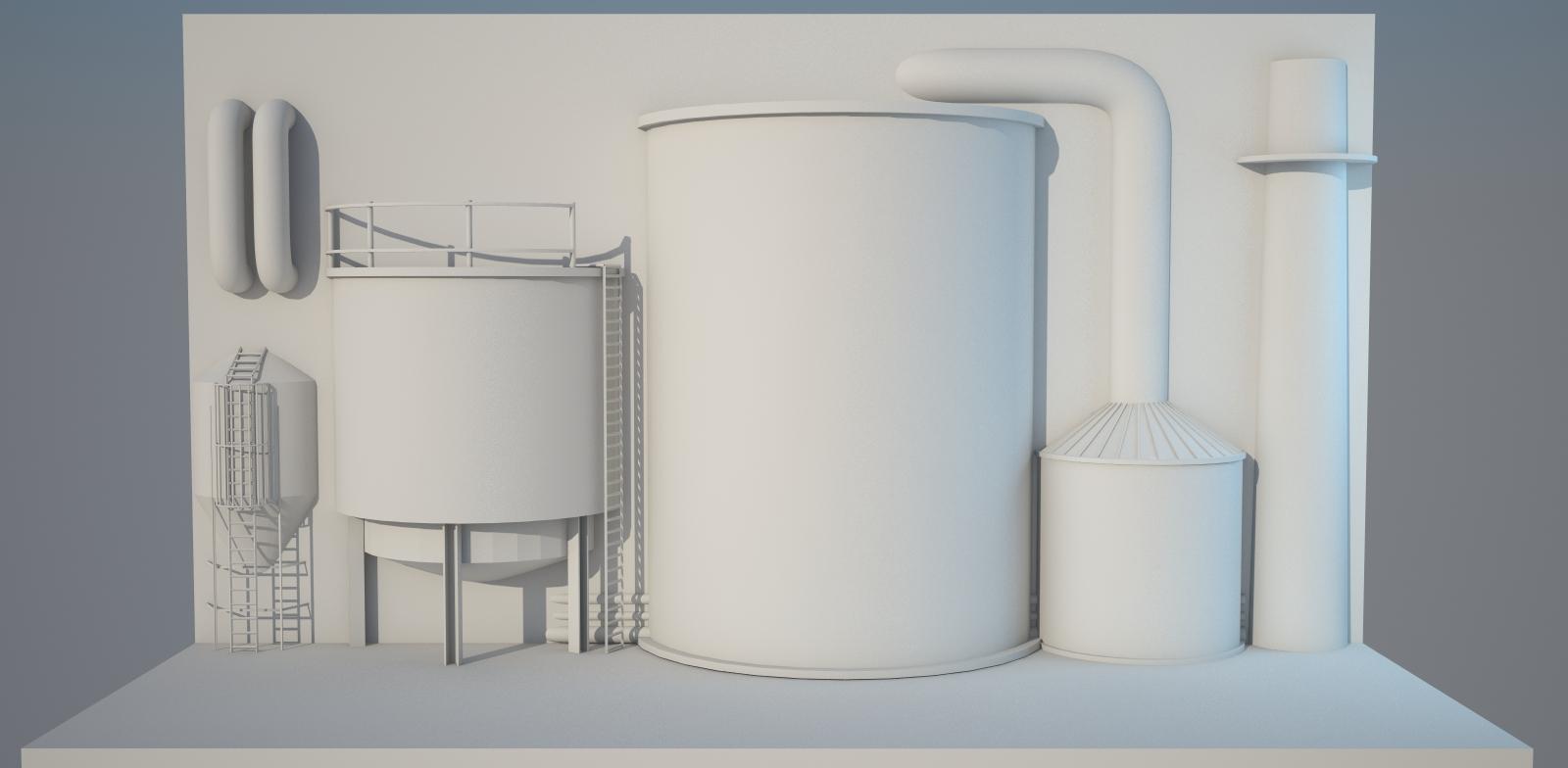 עיצוב במה לכיל כימיקלים