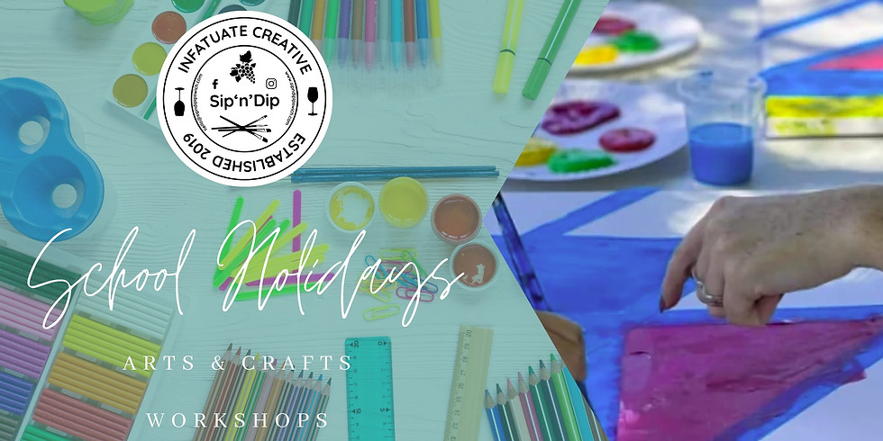 SCHOOL HOLIDAYS - Learn to paint class - All Ages - Kids Tape 'n' Paint Class