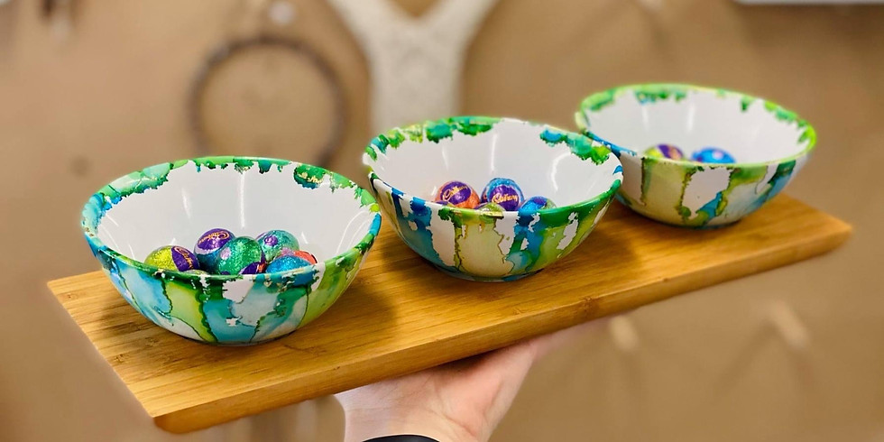TOOWOOMBA - TCC - Pigmented Ink Bowls & Bamboo Tray