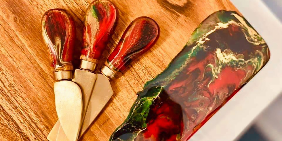 TOOWOOMBA - TCC - Learn to make a resin cheese board + 3 knives