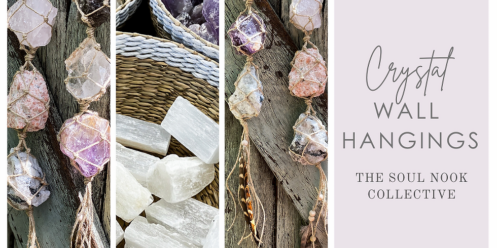 Crystal Wall Hangings at The Soul Nook Collective