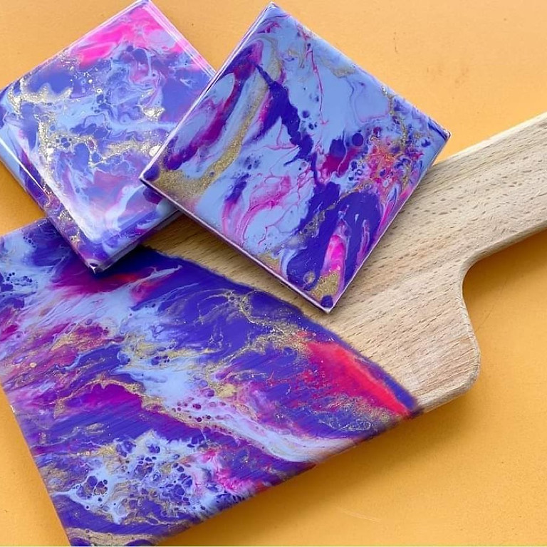 PLAINLAND COLLEGE - Make your own resin covered paddle and coasters