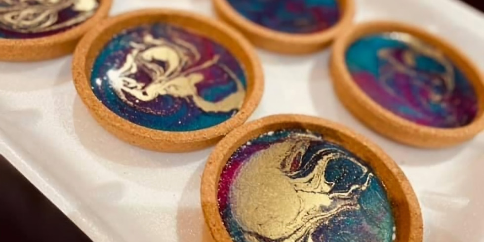 TOOWOOMBA - TCC - Learn to pour 6 x resin coasters