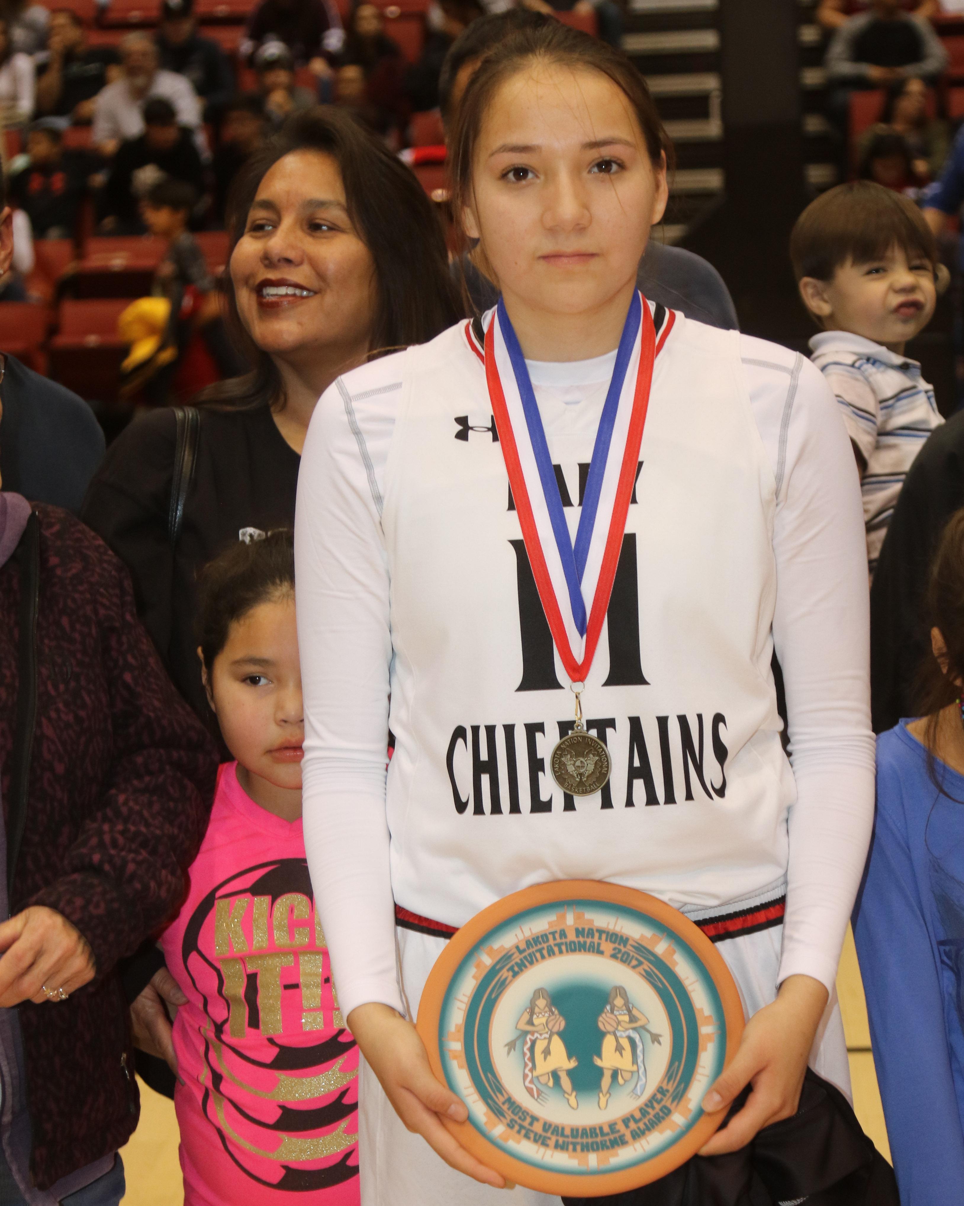 Girl's MVP Marveen Ross