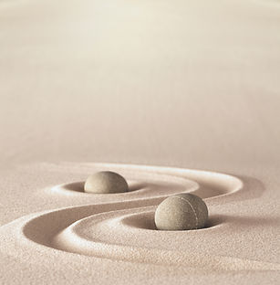 zen garden meditation stone background w