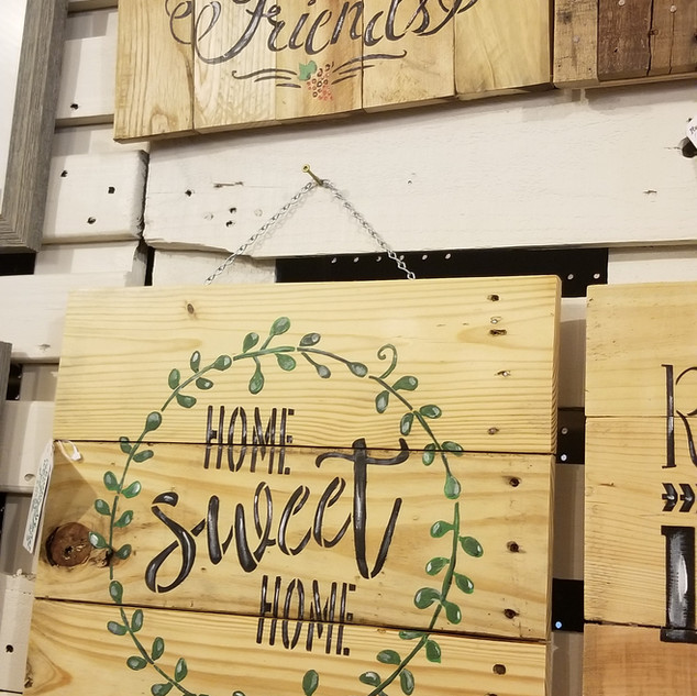 Rustic Recycled Wood Sign
