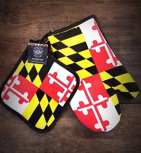 Maryland Flag Oven Mitt