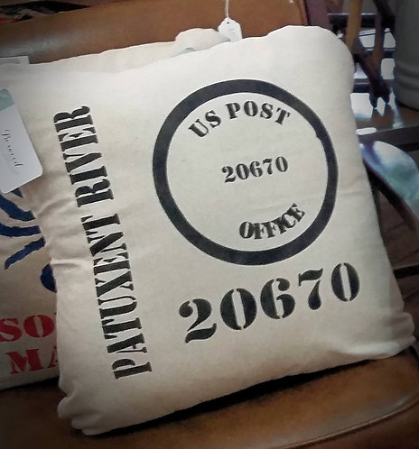 Postage Throw Pillow