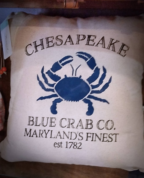 Chesapeake Blue Crab, Throw Pillow