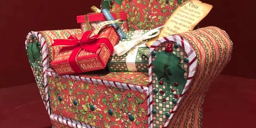 Christmas Chair Mini Book DIY Class