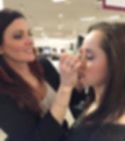 Darcie L Makeup applying makeup for bride