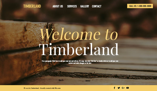 Business website templates – Carpentry Service