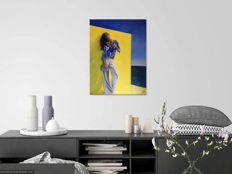 Pour se projeter, quoi de mieux qu'une mise en situation avant de choisir un tableau. Ambiance jaune