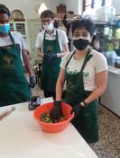 Atelier de cuisine, tarte phyllo fait à la main