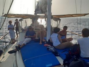 visite en bateau ...
