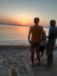 à la plage de Milina