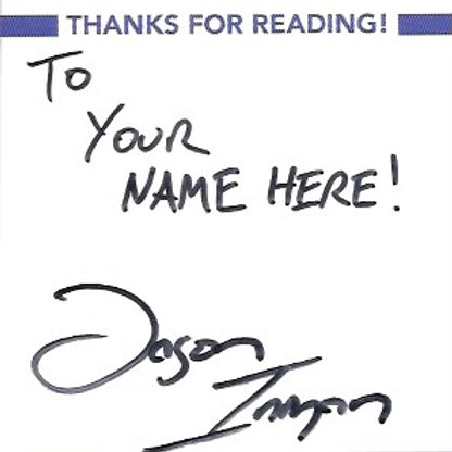 Bookplate Stickers, Autographed and Personalized
