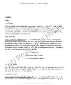 Comic script preview