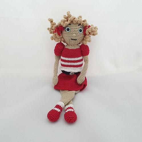 Doll Wearing Dancing Shoes