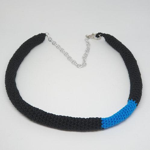 Tube Necklace - Blue