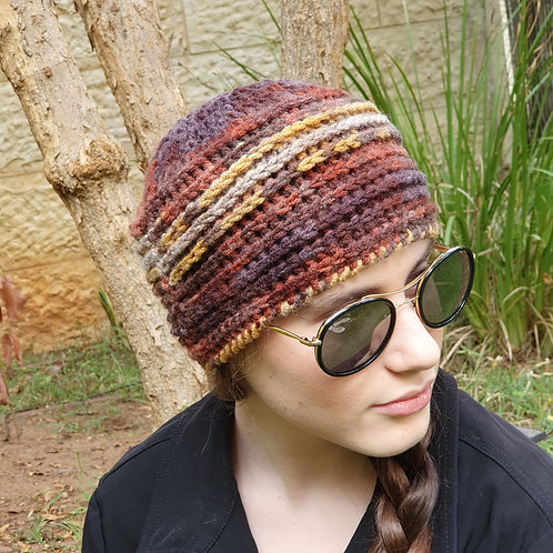 Fashionable Wool Hat in Worm Shades