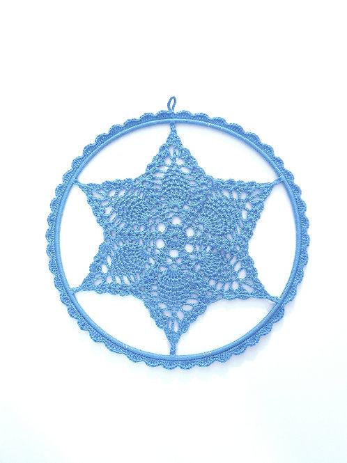 Knitted  Hoop - Blue