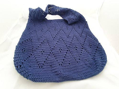 Knitted Blue Side Bag